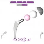 Exemple d'un catalogue interactif pour une gamme de prothèse de hanche.