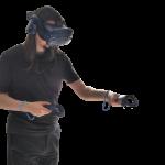 Visualisation externe d'une utilisation du casque de Réalité Virtuelle